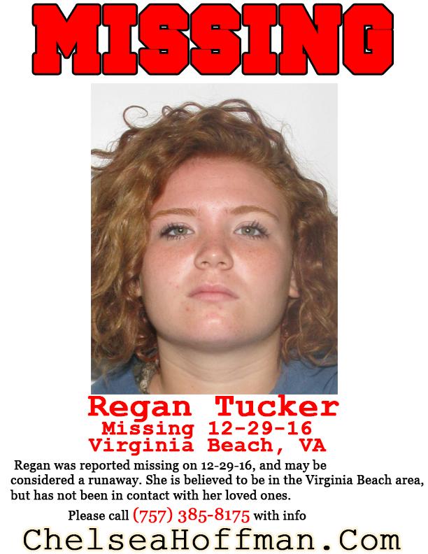 Virginia Beach: Regan Tucker missing since Dec. 29, 2016