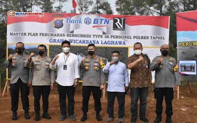 Wakapolda Sumut Hadiri Launching Pembangunan Perumahan Bersubsidi Polres Tapsel