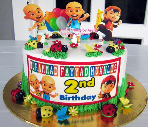 Birthday Cake Upin ipin & Boboiboy