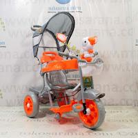 Sepeda Roda Tiga Family F823AT Rio Musik Dobel Pesawat Ban Jumbo Orange
