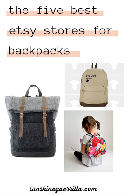The Five Best Etsy Stores For Backpacks