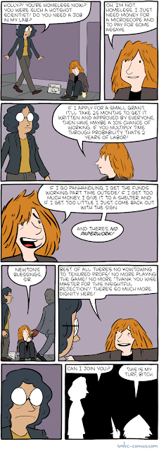 SMBC comic on grant funding