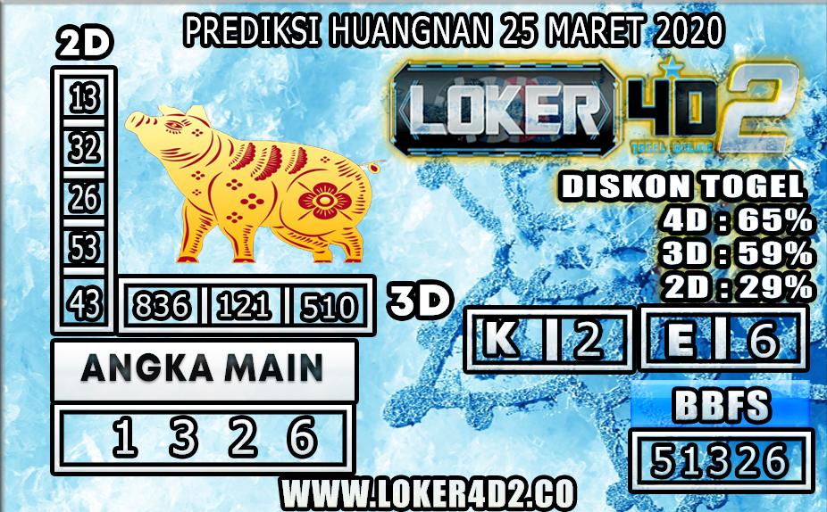 PREDIKSI TOGEL HUANGNAN LOKER4D2 25 MARET 2020