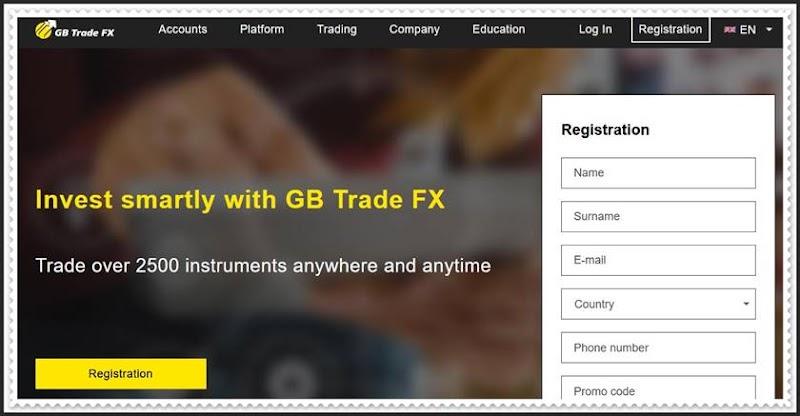 Мошеннический сайт gbtradefx.com – Отзывы, развод! Компания GB Trade FX мошенники