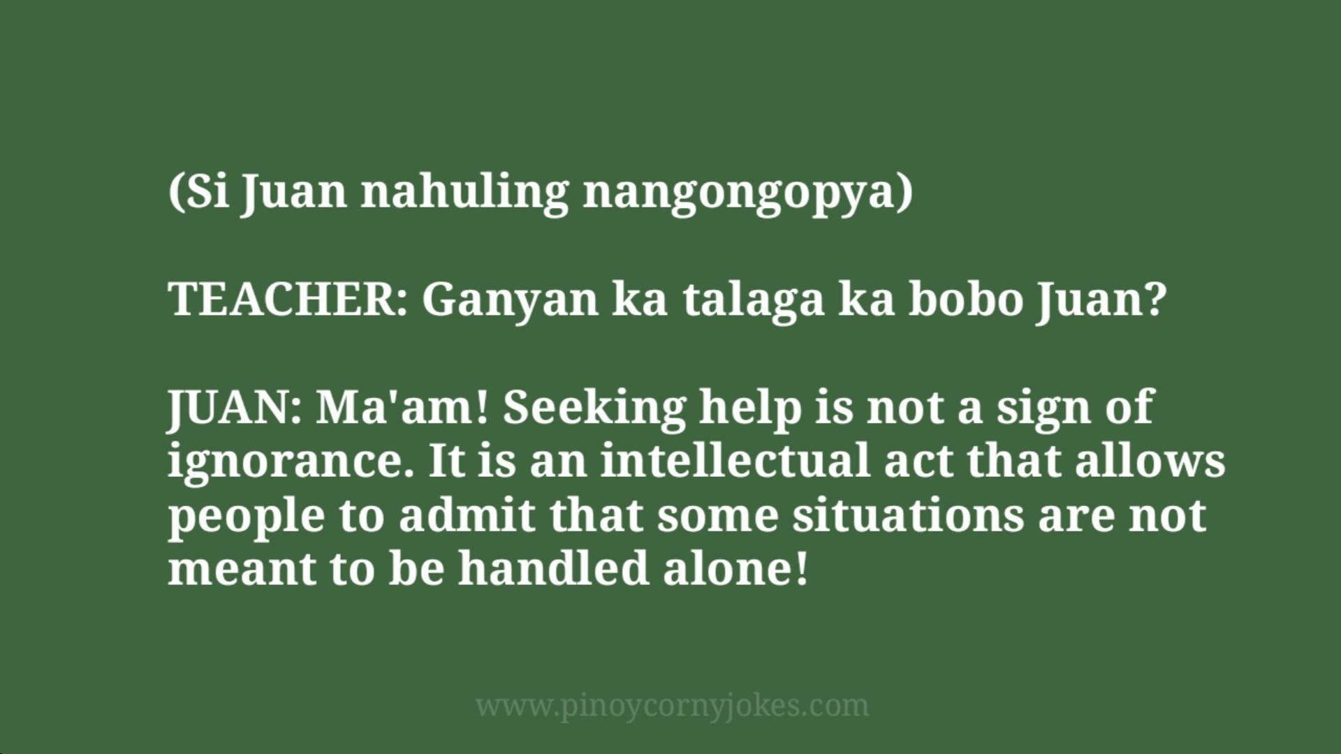 nahuling nangopya buhay estudyante jokes