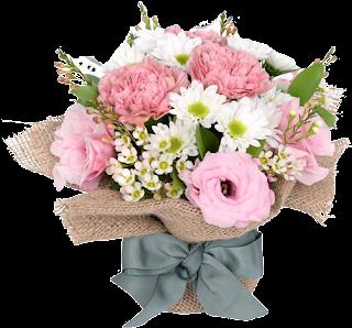 Vaso de estopa com flores
