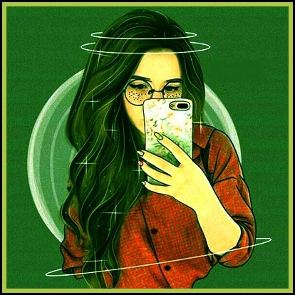 selfi girl Stylish dp