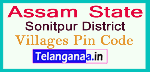 Sonitpur District Pin Codes in Assam State