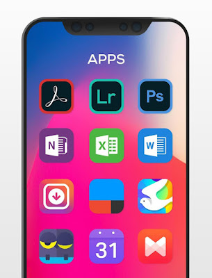 تطبيق iLOOK Icon pack كامل للأندرويد, تطبيق iLOOK Icon pack مكرك, تطبيق iLOOK Icon pack عضوية فيب