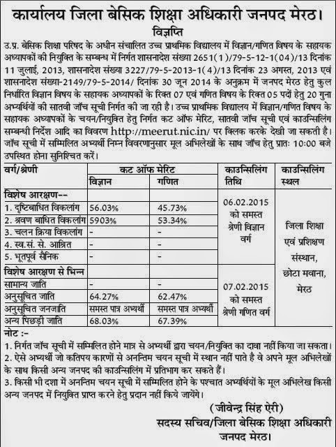meerut jrt cut off 7th