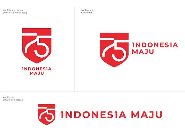 Logo HUT ke-75 Kemerdekaan RI Tahun 2020