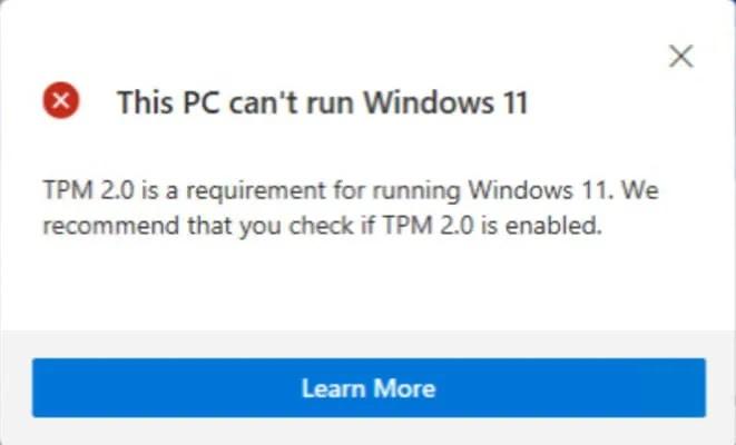TPM لتثبيت ويندوز 11