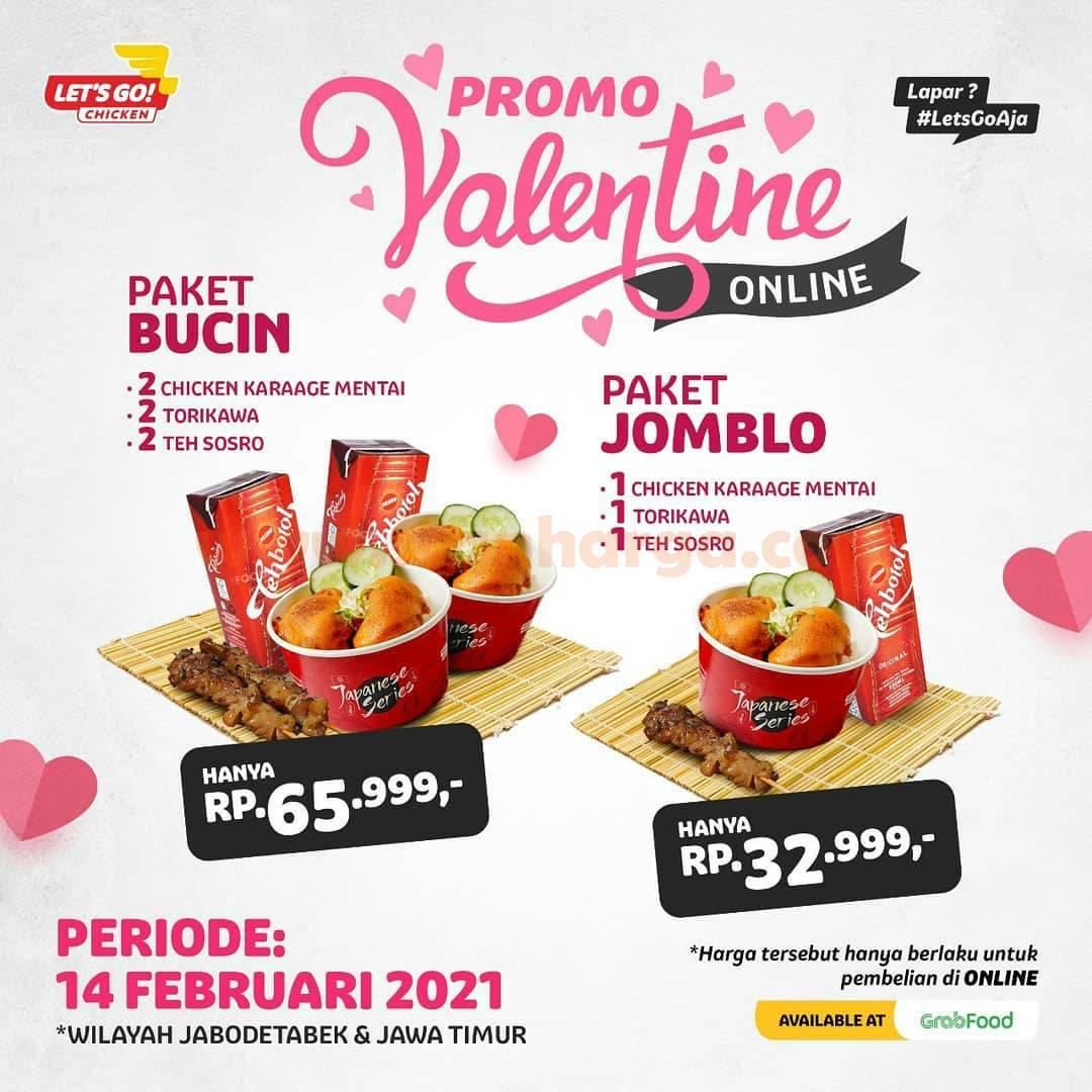 Let's Go Chicken Promo Valentine! Harga Paket mulai 24 Ribu-an