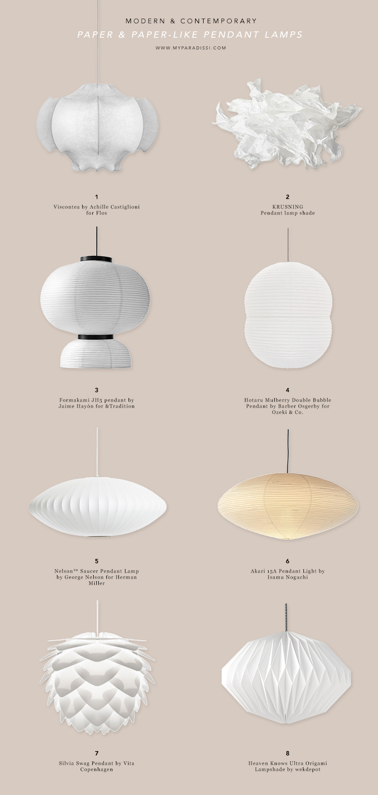 Contemporary ceiling lighting, modern ceiling lighting, designer ceiling lamps, paper lantern pendant lamps, sculptural pendant lamps, origami pendant lamps, rice paper lamps