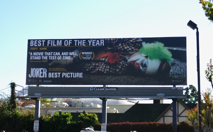 Joker Best film of the year nominee billboard