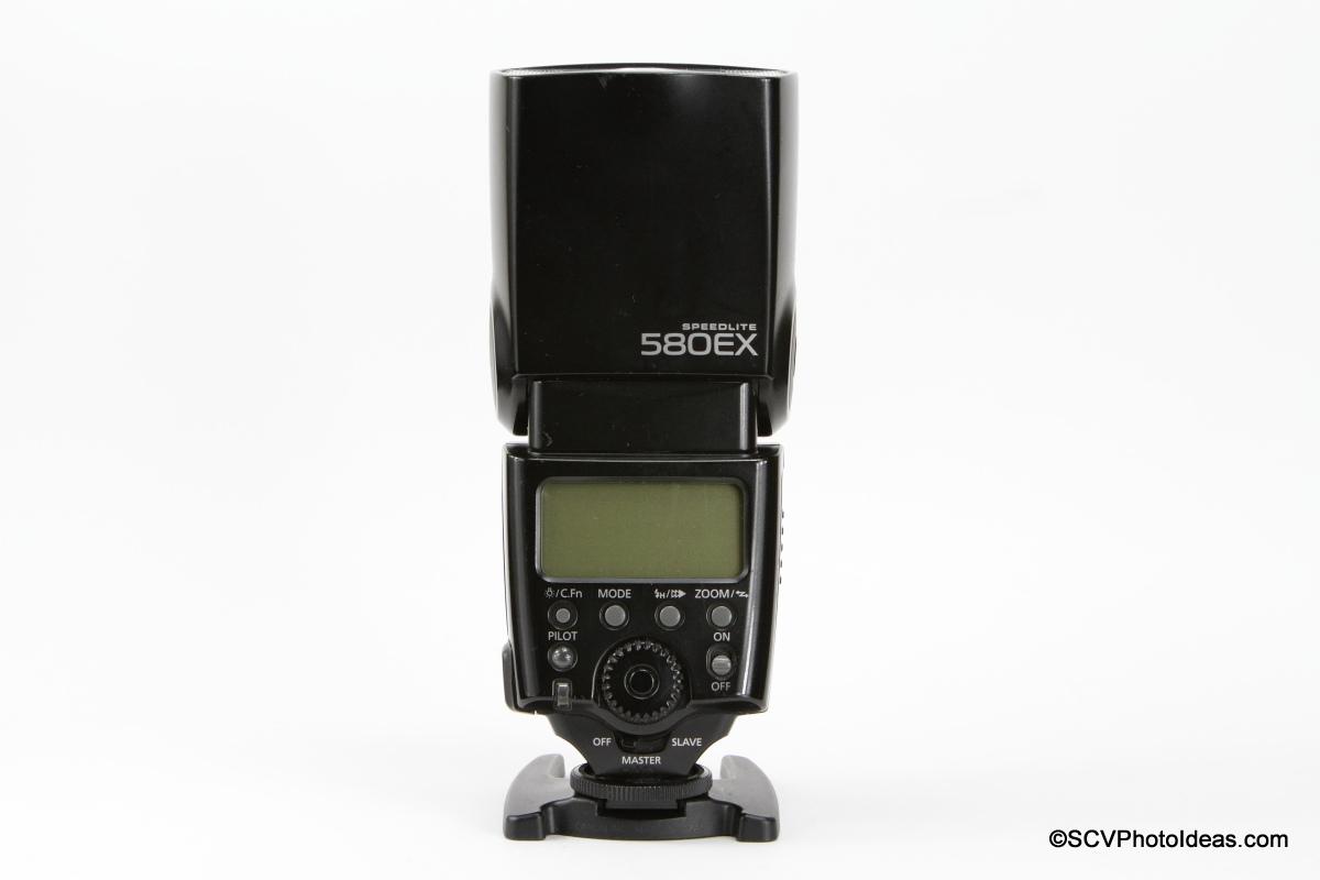Canon Speedlite 580EX rear view
