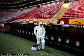 Galatasaray disinfect stadium ahead of derby against Besiktas due to coronavirus