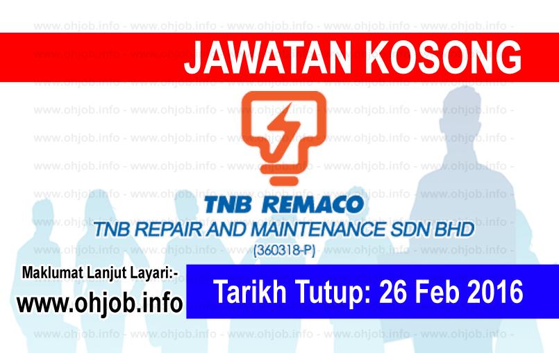 Jawatan Kerja Kosong TNB Remaco logo www.ohjob.info februari 2016
