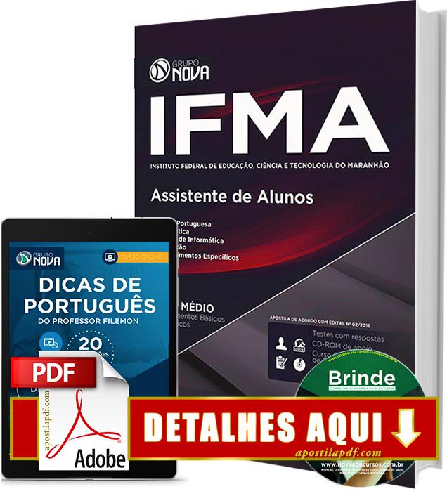 Apostila IFMA 2016 Assistente de Alunos Impressa