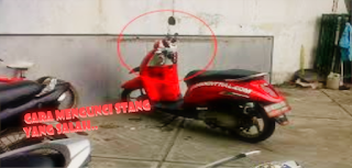 CARA MENGUNCI STANG MOTOR YANG BENAR