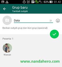 membuat nama grup whatsapp