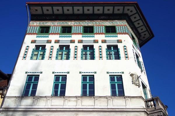 ljubljana art nouveau place prešernov maison hauptmann