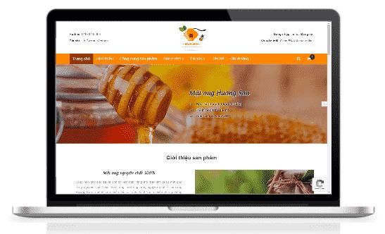 Giao diện blog bán hàng Mật ong rừng