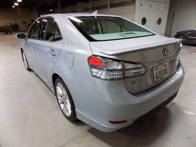 Lexus HS250h after collision repairs at Almost Everything Auto Body.