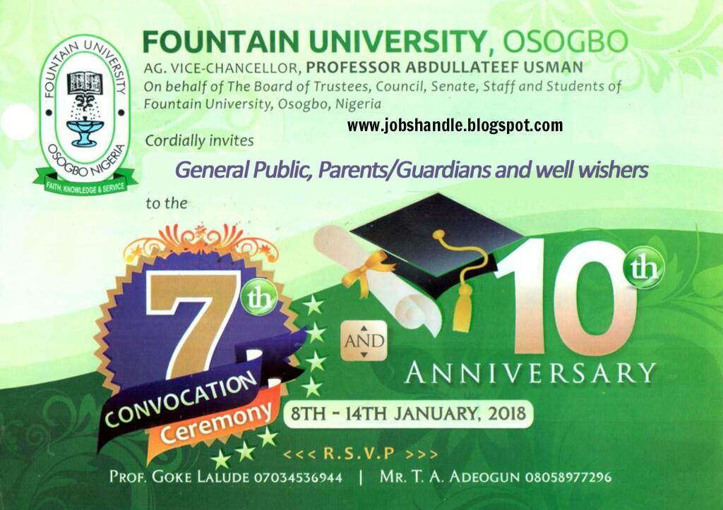 NOUN 7th Convocation Graduation List – 2018 [free Download