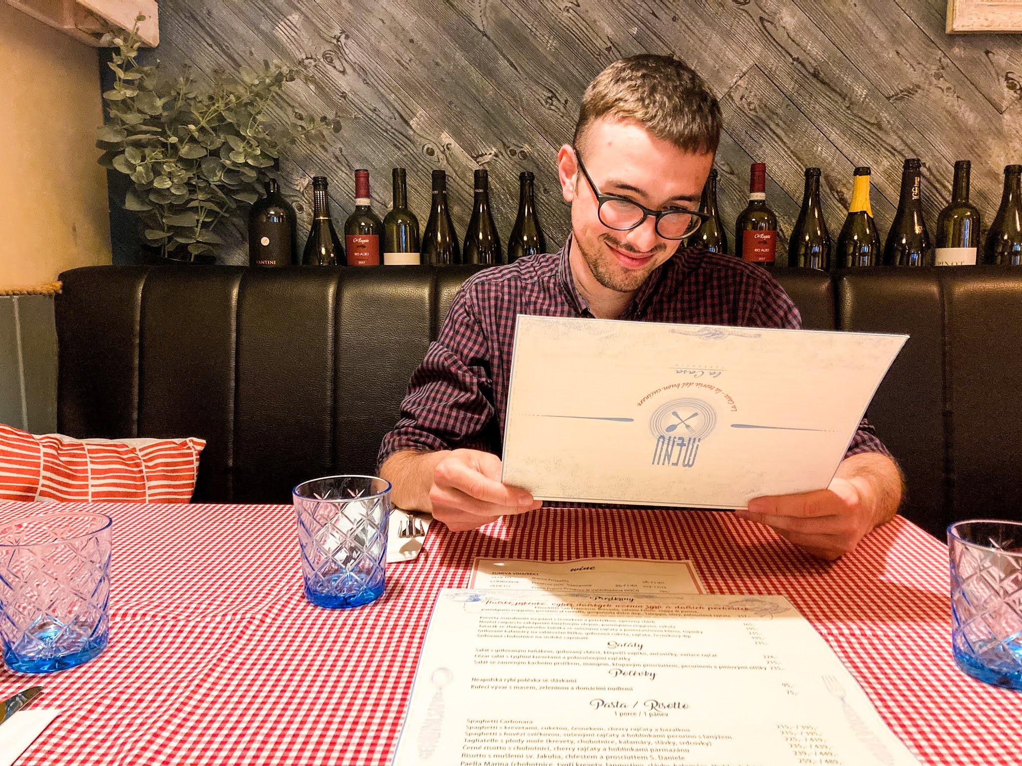 Włoska restauracja w Pradze