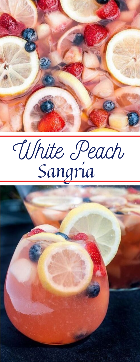 WHITE PEACH SANGRIA #drink #summer #party #fresdrink #smoothie