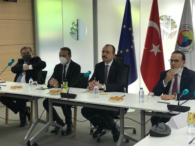 Ticaret Bakanı, Brüksel'de STK Temsilcileri İle Buluştu