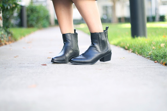 Senso black leather boots, booties