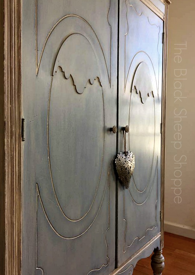 Doors with decorative heart hanging from knob