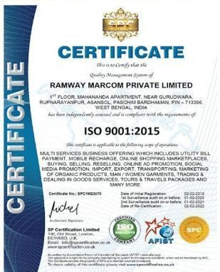 ISO 9001 :2015 Certificate