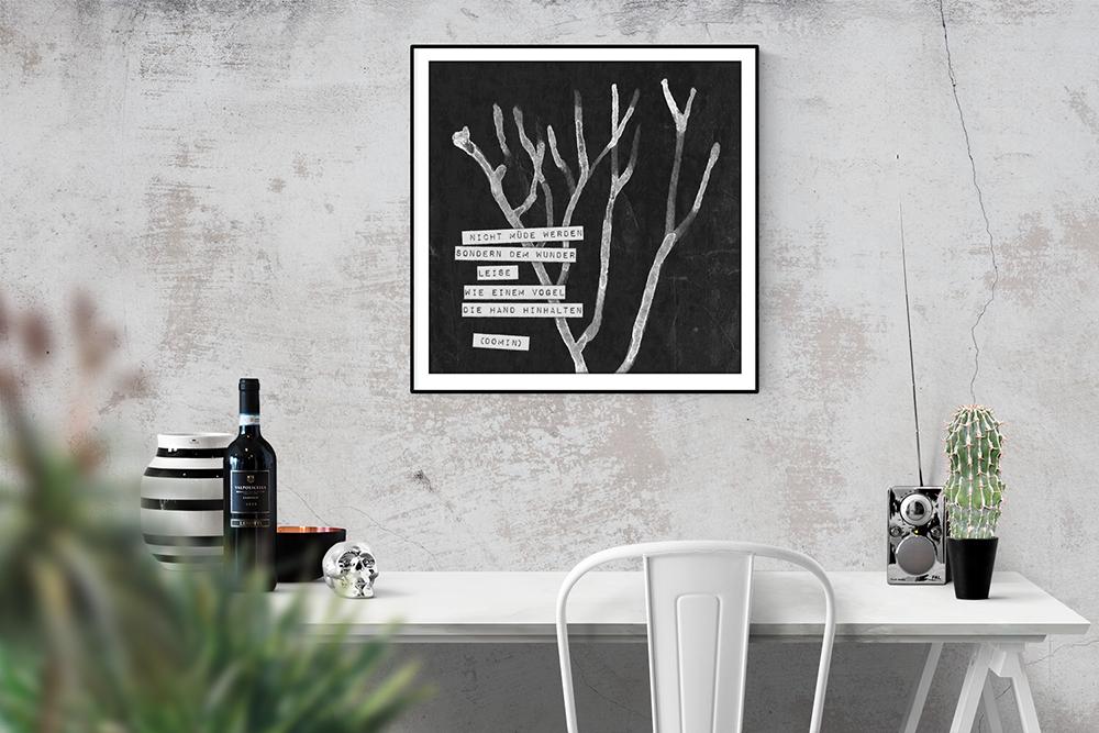Worte für die Wand - Zitatebilder für euch zum Download // Grafikdesign Zitatebild © fieberherz.de