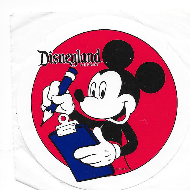 Mickey Disneyland Resort Survey Sticker
