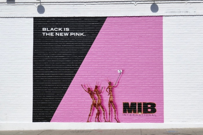 Men in Black International wall mural ad