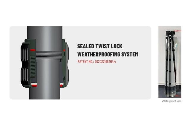 Patented Sealed Twist Lock system