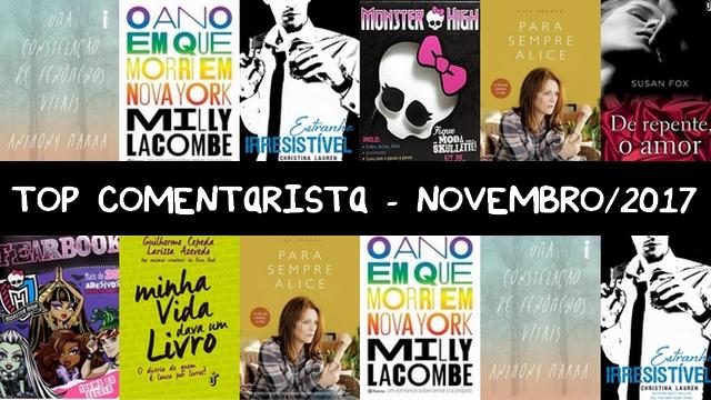 TOP COMENTARISTA - Novembro/2017