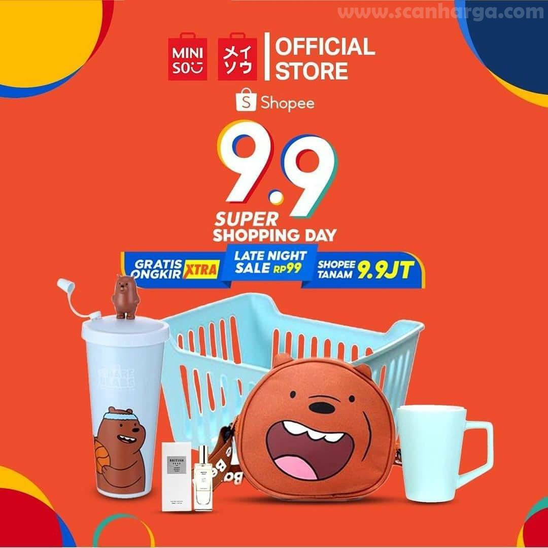 Promo Shopee X Miniso 9.9 Super Shopping Day