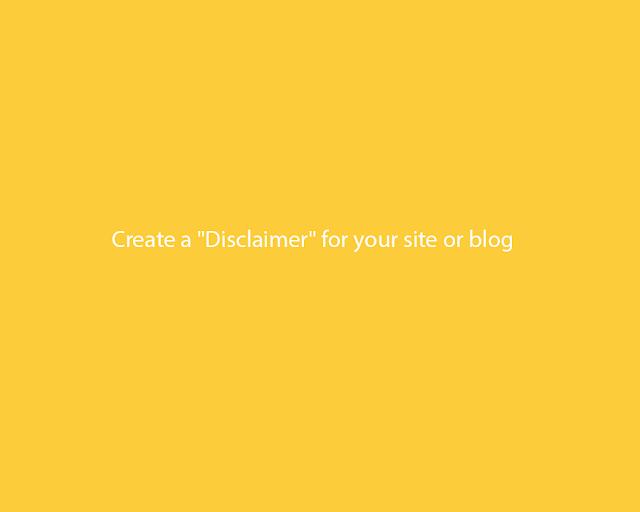 Disclaimer blog