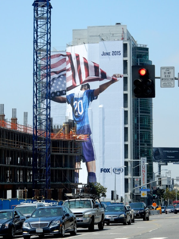 Giant Womens Soccer World Cup 2015 Fox Sports billboard