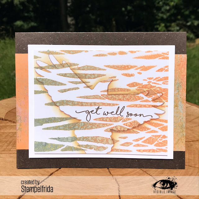 get well card | bird | forest | stencils | stamping