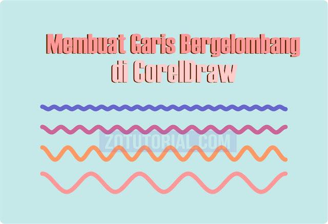 5 Langkah Membuat Pola/Garis Bergelombang di CorelDraw (Wave)