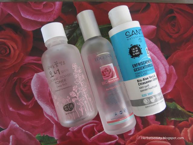 Whamisa Deep Toner, Logona Bio-Rose&Bio Aloe, Sante Erfrischendes Gesichtswasser