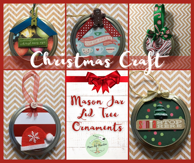 Deck the DIY: Homemade mason jar lid Christmas tree ornaments