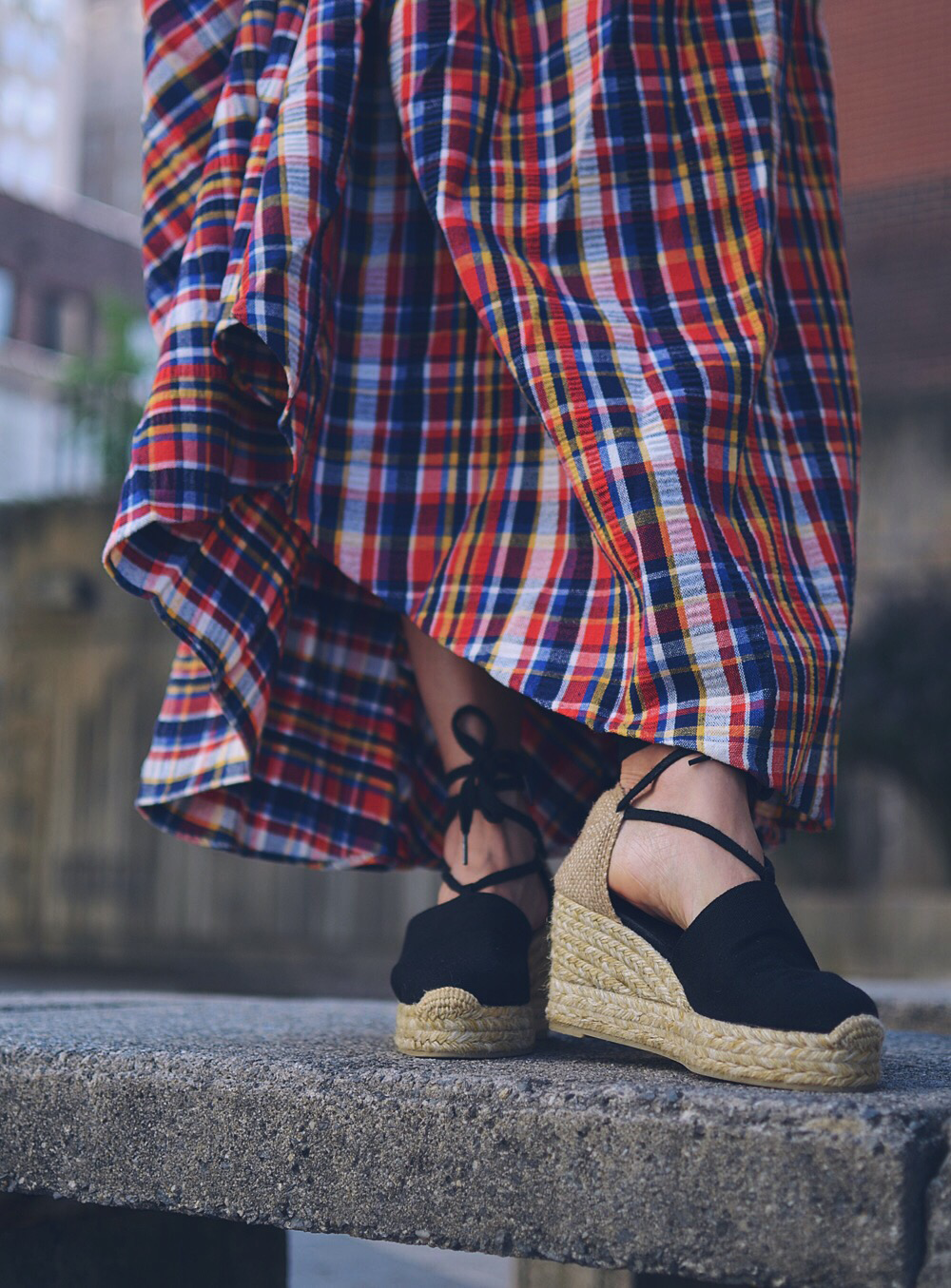 Platfrom espadrilles street style