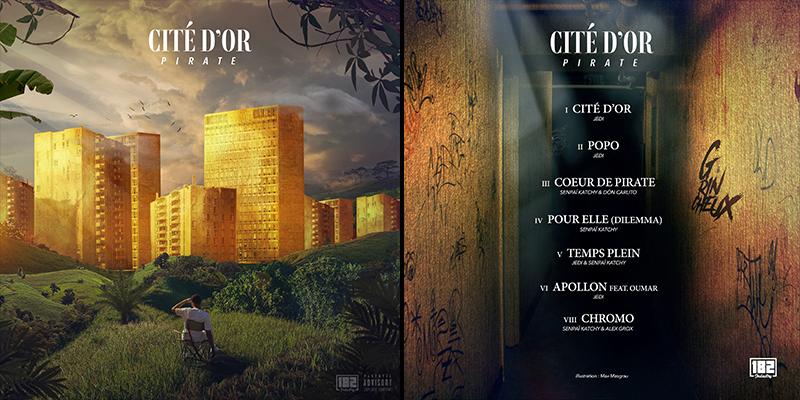Cover et tracklist de l'EP Cité d'Or de Pirate