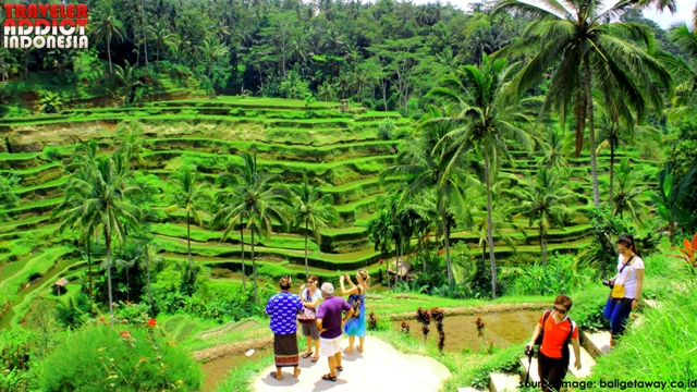 Tegalalang visited by many tourists